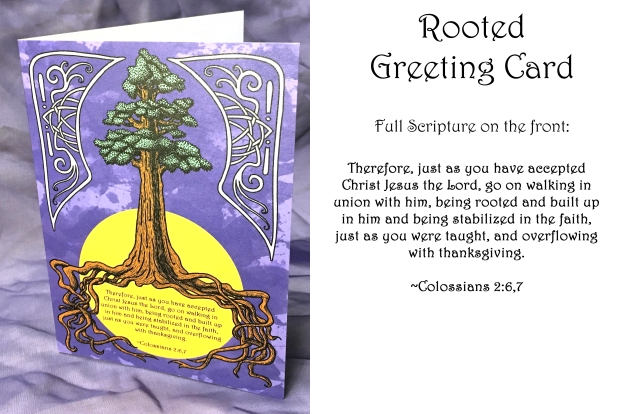 Rooted card real words