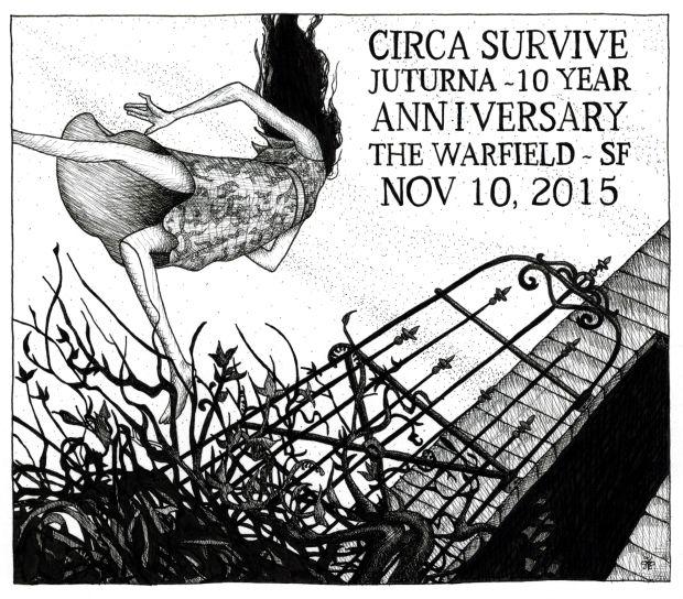 Juturna album cover for Circa Survive by Athena Mariah LaRue