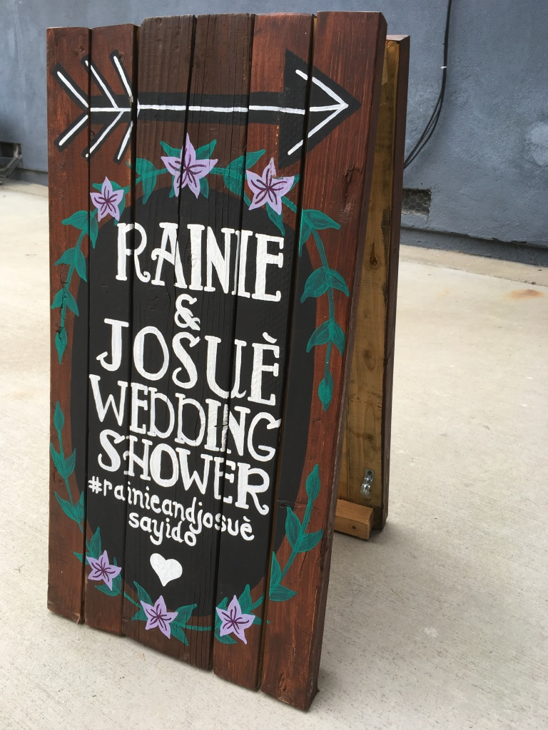 Pallet Wood Sign Bridal Shower by Athena Mariah LaRue