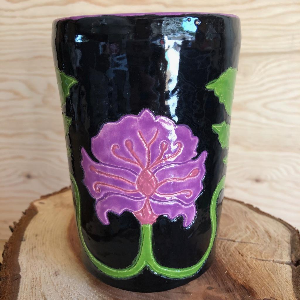 Art Nouveau Ceramic Beer Stein by Athena Mariah LaRue.