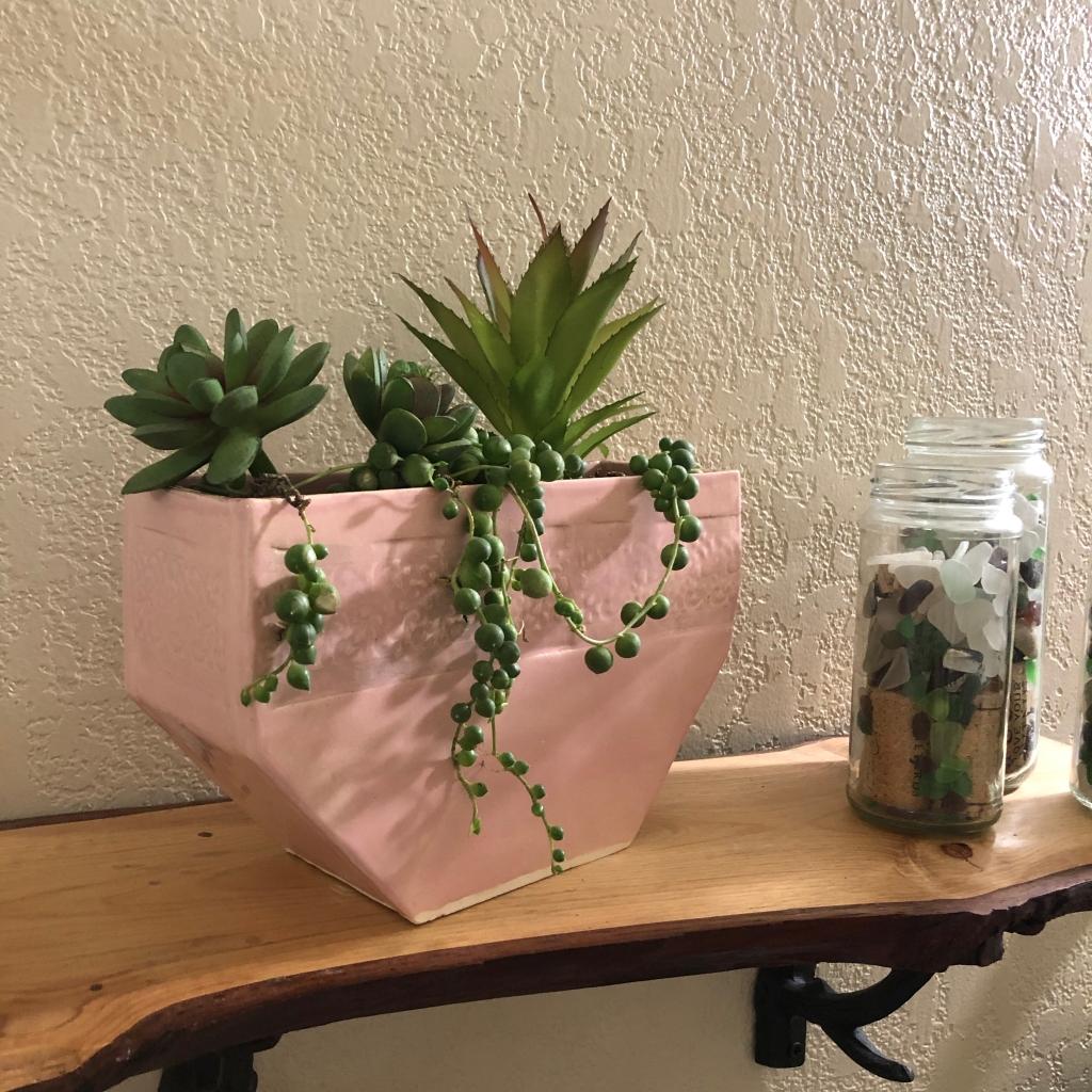 Pink Octagon Ceramic Pot by Athena Mariah LaRue