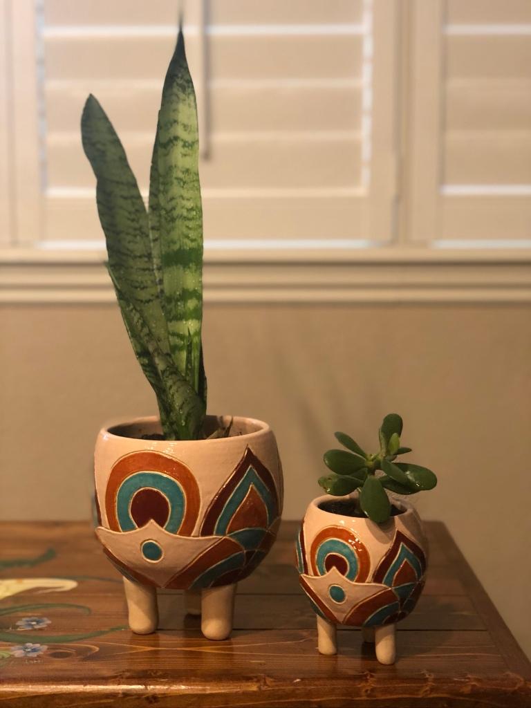 Momma & Baby Ceramic Pot by Athena Mariah LaRue